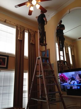 Changing Light bulbs in 2 story ceiling in Sherrills Ford, NC